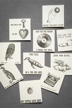 Love Letter Note Cards (10) in SHOP Décor Stationery at BHLDN