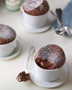 Individual Chocolate Souffles