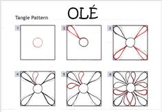 How to draw OLÉ 1 « TanglePatterns.com
