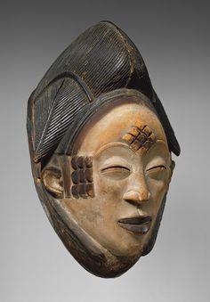 Mukudj Mask, 19th–20th century  Punu peoples; Gabon  Wood, pigment, kaolin