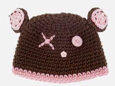 Crochet Hats   Baby Bear Hat - Crocheted Bear Hats, Little Girl Crochet Hats, Crochet ...