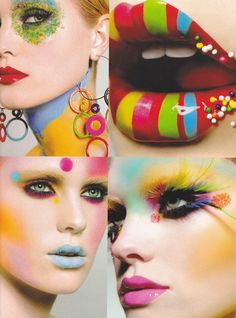 candyland circus candi, color palettes, lip, candyland makeup, parti