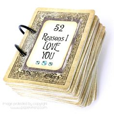 52 Reasons I Love You - tutorial, template and full instructions