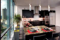 "Luxury eat-in kitchen - ""Luxurious condo kitchen"""