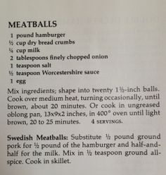 Trying this meatball recipe tonight but I added Italian seasoning and I didn't have any eggs so I nixed those. We shall see how the turn out.