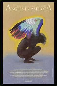 Theater poster for Angels in America: Millennium Approaches by Tony Kushner, winner of Tony Award for Best Play 1993