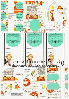 Dunham Design Company: Vintage Mother Goose Party NOW AVAILABLE! birthday parti