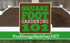 Square Foot Gardening 101 (via Food Storage Made Easy) -- Everything you need to know to get started with your square foot garden this year!