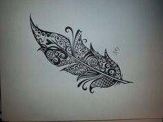 Love this girls artwork. I'm going to have her design a feather for me that I will become a tattoo on my back. Exciting! Black N White, White Tattoos On Black Skin, Art Drawings, Small Tattoos, Ink Drawings, A Tattoo, Feather Tattoos, White Ink, Art Tattoos