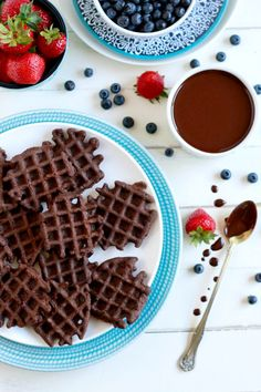 Mini Chocolate Waffles -- savorylotus