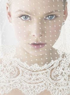 looking through lace.