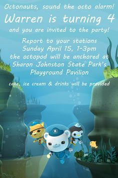 W's octonauts invitation I made.