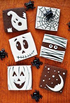 Halloween Cookie Squares