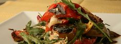 grill salad, goat cheese