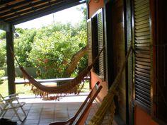 Uma casa com varanda...
