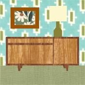 MCM Sideboard Paper Pieced Pattern - via @Craftsy