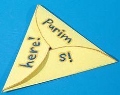 jewish craft, shaped cards, triangl, kid