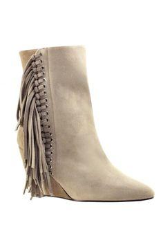 boho fringe boots / bebe