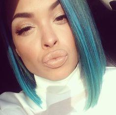 Heather Sanders blue hair  Heather Sanders Hotyella817