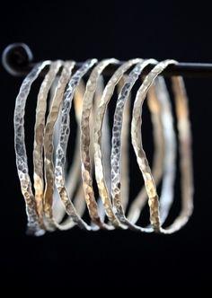 Hammered bracelets