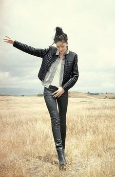Fall style: Leather on leather- love the casual, yet elegant look-love the jacket. Have not seen this fall
