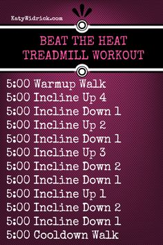 Hilly Beat the Heat Treadmill Workout