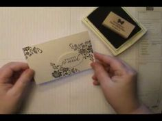 cardmaking video by Dawn O: Fresh Vintage w/Stampin' Up! Designer Frames Wow Card - YouTube .... as always Dawn has some great tips for a pretty card ...