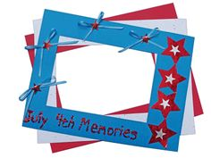 From fireworks to picnics and family gatherings, you're sure to have some great photos of Fourth of July activities to display. Here's a versatile Fourth of July craft that will enable kids to display their best memories in style! http://www.hyglossproducts.com/Fourth-of-July-Crafts-s/304.htm