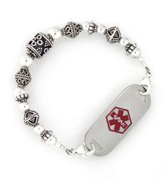 Beautiful Bali Medical ID Bracelet
