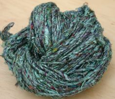 Teal Blend Ultra Soft Pulled Silk by Darn Good Yarn | The Best Yarn Store!