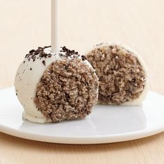 Cookies & Cream Cake Pops dipped in White and Topped with Crushed @oreo Cookies