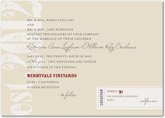 invitations - wine label