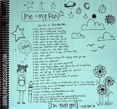 """I'm That Girl"" journaling by pinksuedeshoe"
