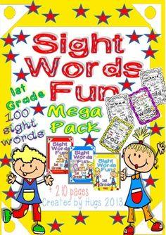 Sight Words Fun Worksheets Mega Pack 100 sight words!!!