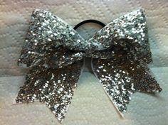 3 3 inch cheer cheerleader bow silver by blingitoncheerbows, $15.00 football season