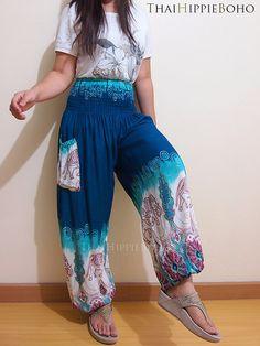 Casual Thai Elephant Boho Hippie Baggy Pants/ by thaihippieboho, $15.00