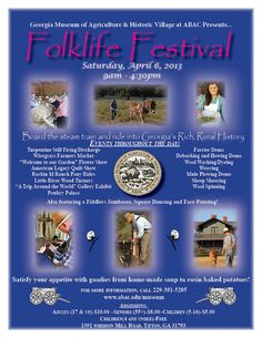 Don't miss the Folklife Festival in #Tifton, #Georgia on April 6, 2013!