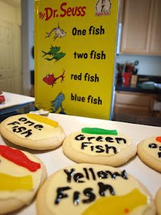 Dr suess party one fish two fish red fish blue fish for Blue fish pediatrics