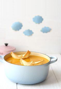 Crema de calabaza y curry #food #photography