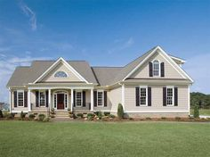 Country House Plan with 1882 Square Feet and 3 Bedrooms from Dream Home Source | House Plan Code DHSW14784 screen porches, country houses, dream homes, hous plan, floor plans, bedrooms, exterior color schemes, countri hous, house plans