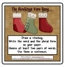 Free!  Plural Work...the stockings were hung thanks to Pitner's Potpourri!