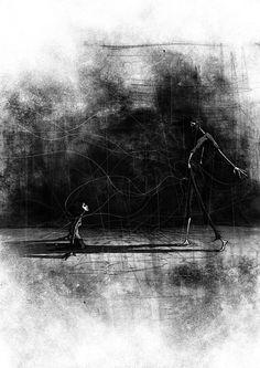 Si Clark - Black and White illustration #illustration