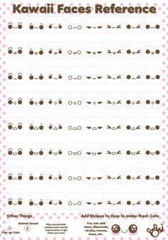 Kawaii Faces Reference sheet