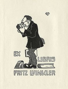 fritz winkler, book ii, libri vii, treasur book, libri miscellanea, bookplat, book plate, exlibri