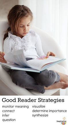 Help your child comprehend what he/she reads using good reader strategies