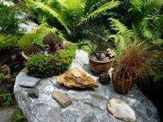 tablescape (Borcich garden, Lake Forest Park)