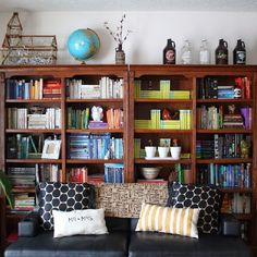 Learn how to style a bookshelf so it stands out and makes a room come together!