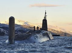 Nuclear Submarine HMS Vanguard Returns to HMNB Clyde, Scotland by FrigateRN