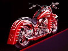 Red Harley Davidson Custom