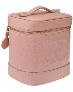 Chanel Pink Caviar Leather Vanity Bag.